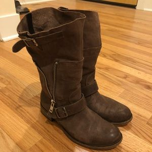 Steven by Steve Madden distressed boots